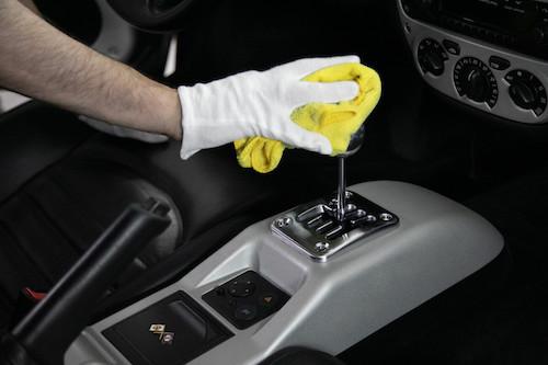 detallado interiores coche